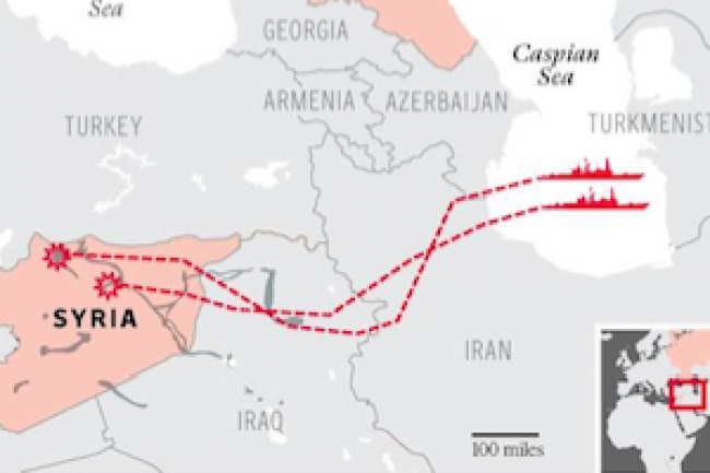 Russia's missile launches and the militarization of the Caspian Sea